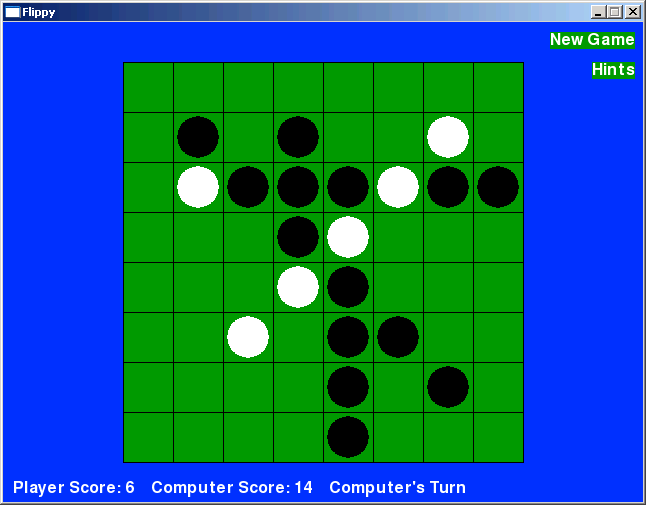 Screenshot of Flippy game