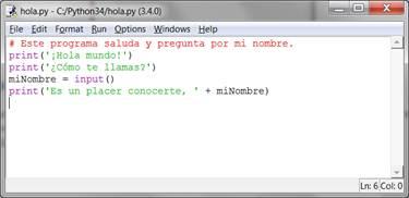 Escribiendo Programas