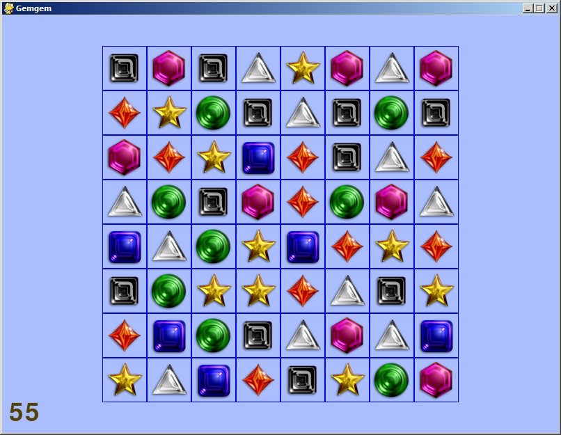 Screenshot of Gemgem game