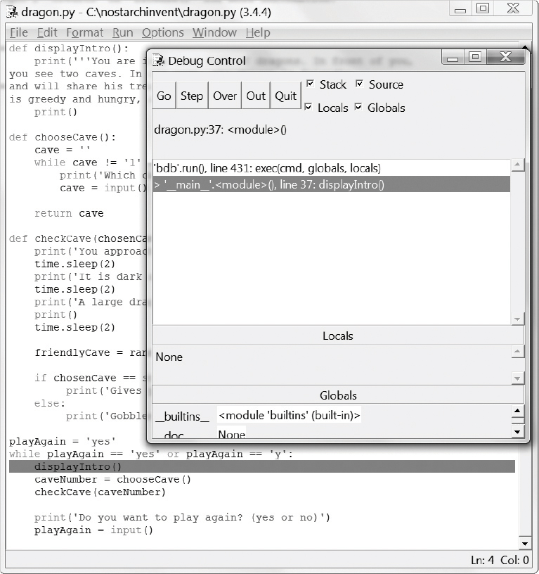 Chapter 6: Using the Debugger